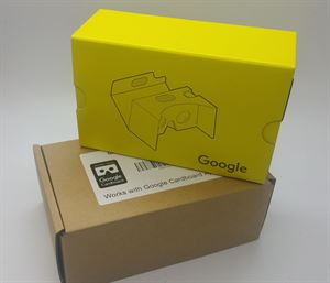 Picture of Latest Google Cardboard V2.0 Yellow Color with Head Strap, Australian Stock